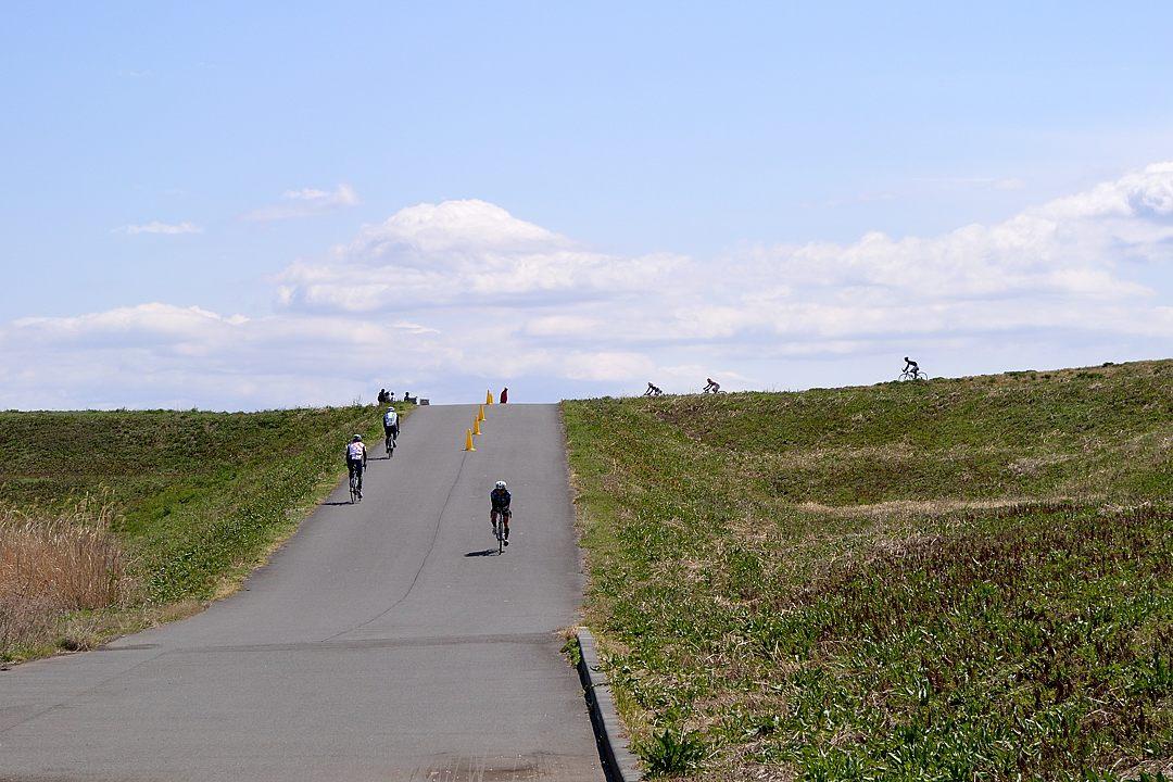 彩湖の周りで自転車&RUN