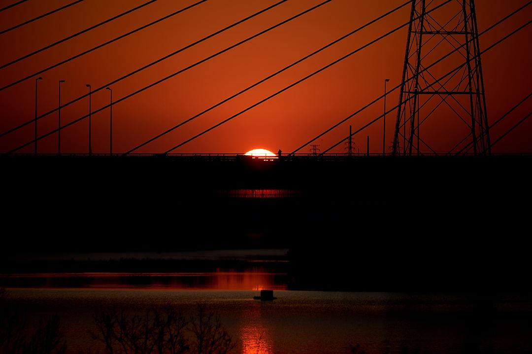 【06:55】 幸魂大橋から出て来ました