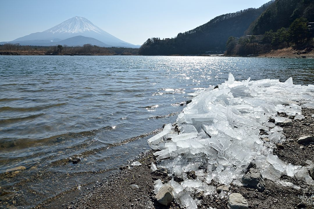 11:38 打ち上げられた氷と富士山-1