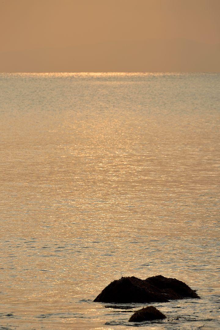 16:35 海面に差し込む陽