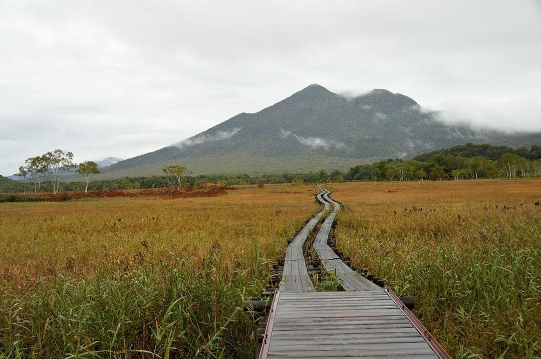 頂上が見えた燧ケ岳(下ノ大堀より)