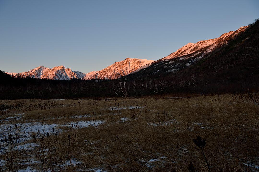 【06:07】 白馬連峰のモルゲンロート