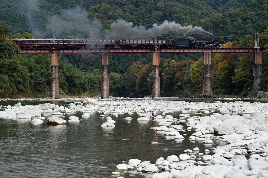 【11:43】下り・SL急行列車