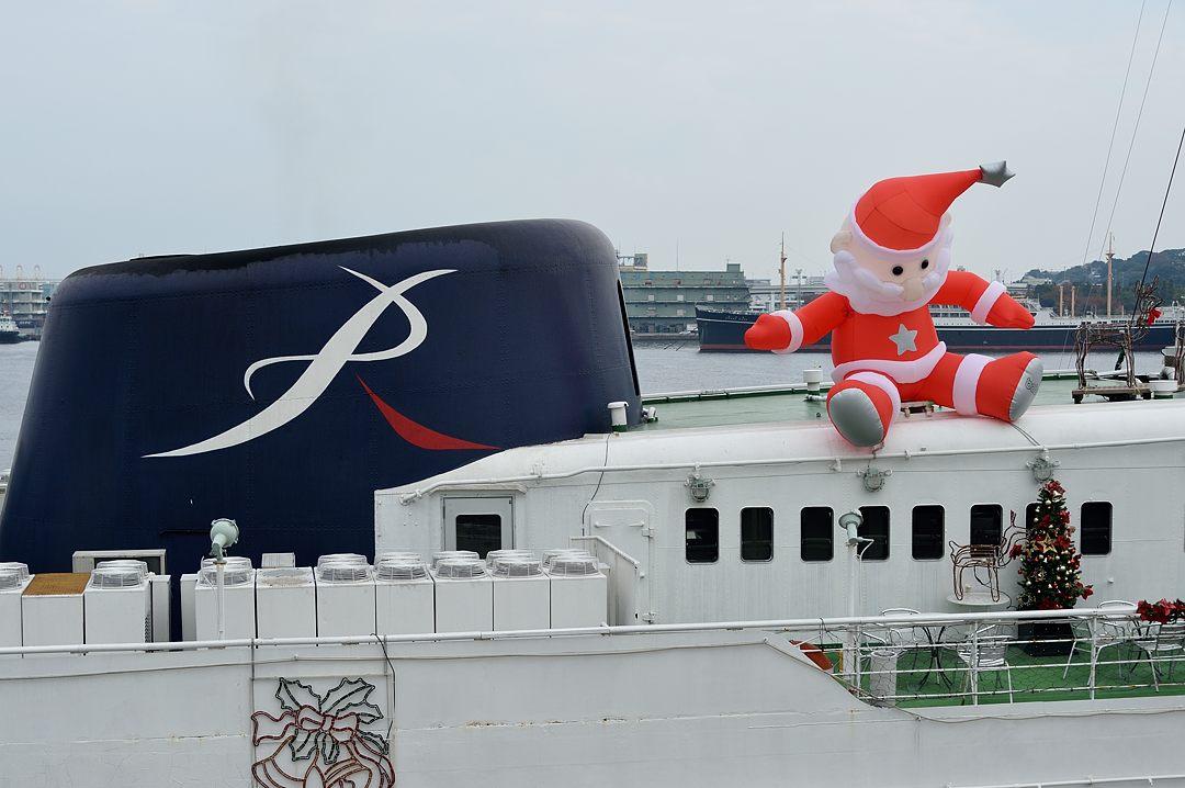 サンタの乗ったクルーズ船