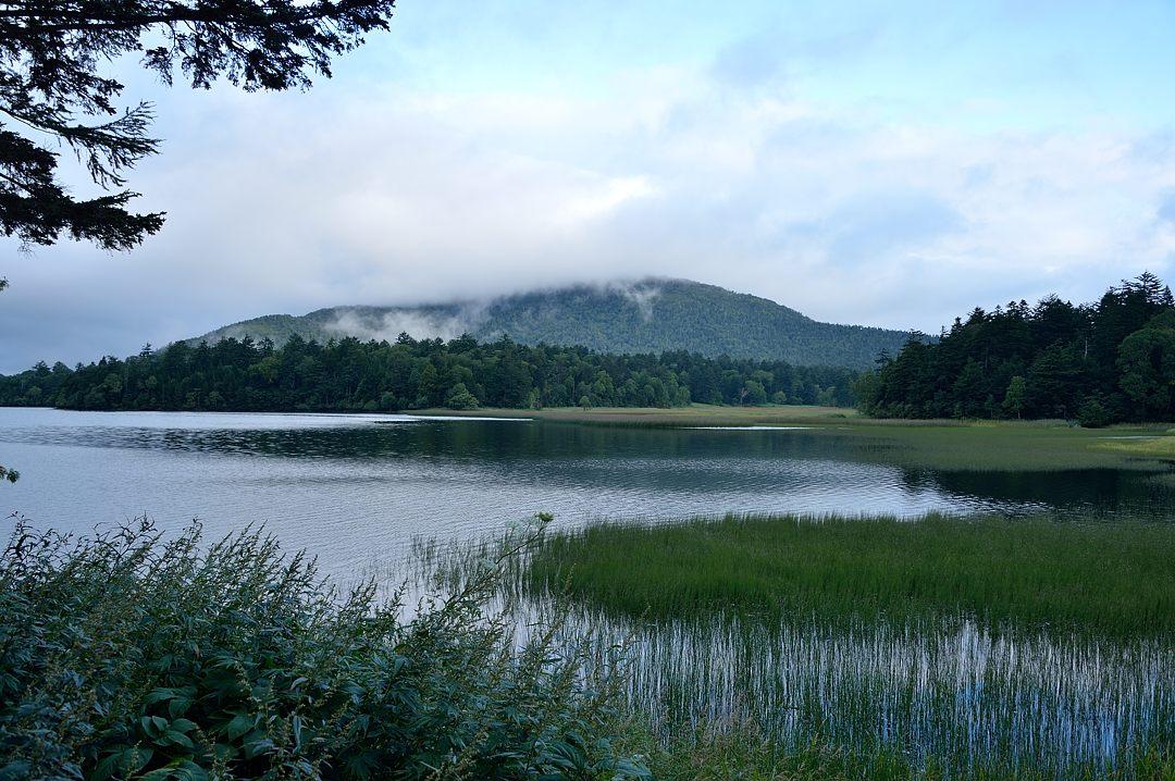 雲を被った燧ケ岳