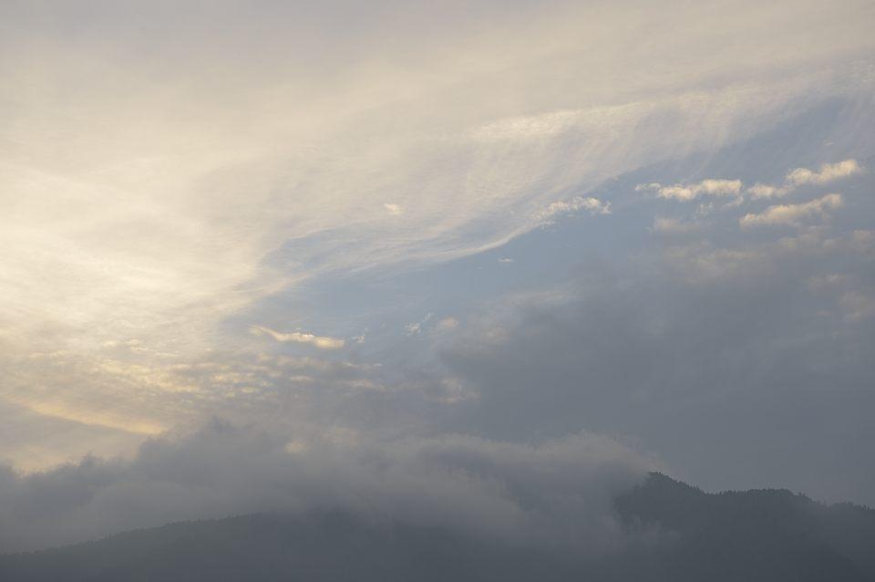 羽衣の様な雲