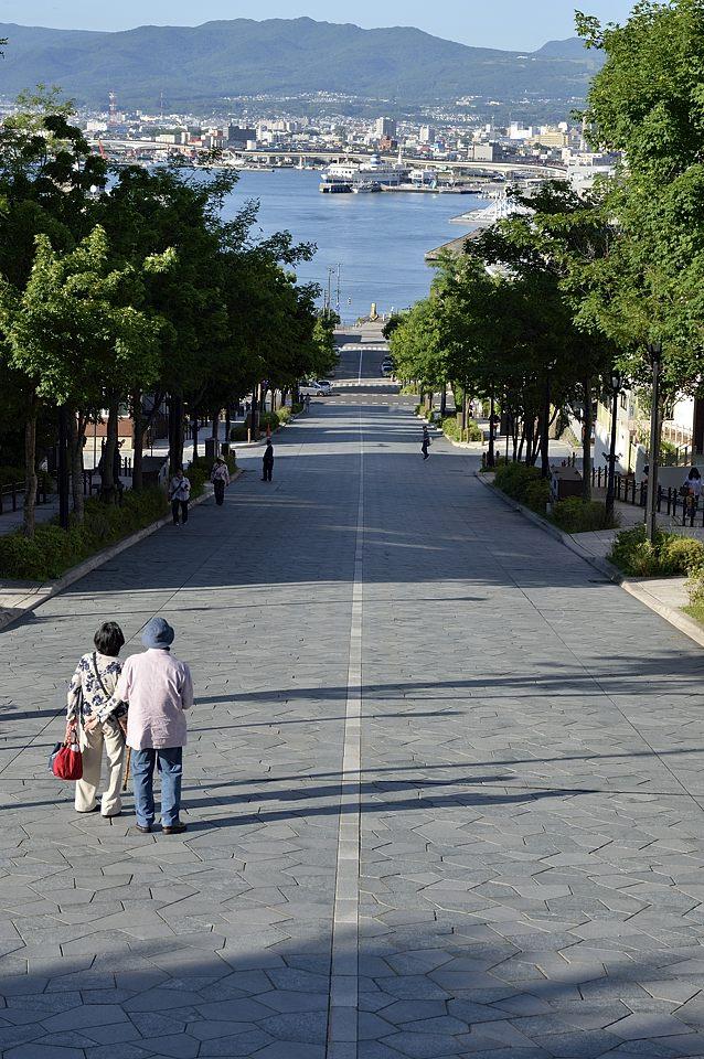 八幡坂からの眺め