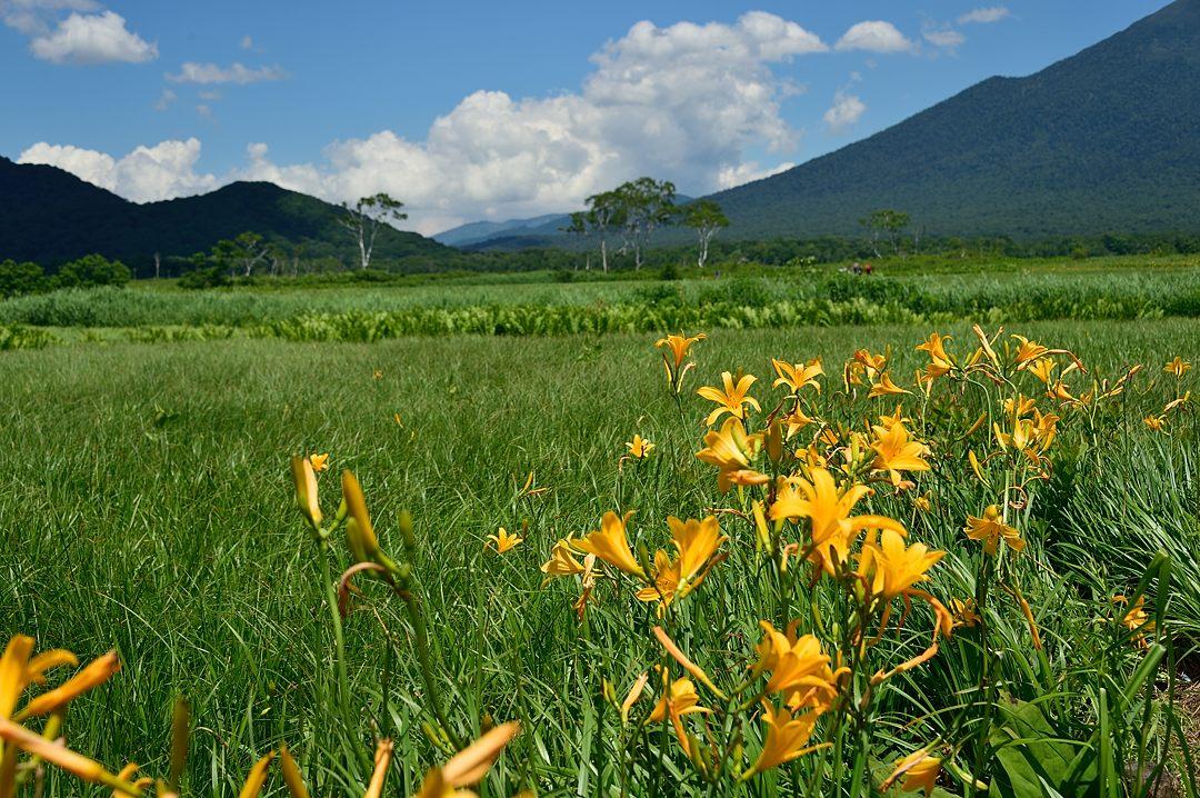 会津駒ケ岳に夏雲覆う