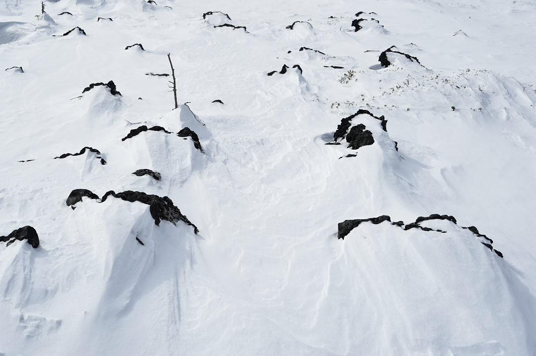 雪面の模様
