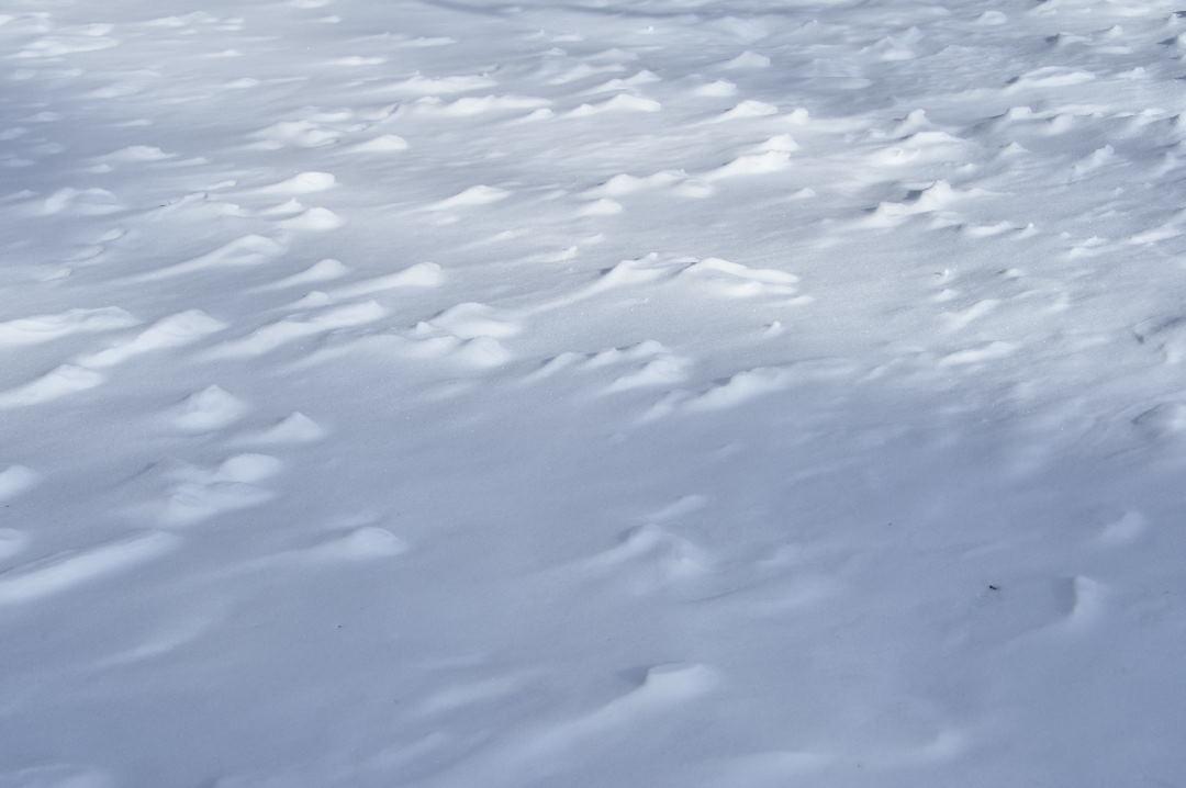 落雪と風の芸術