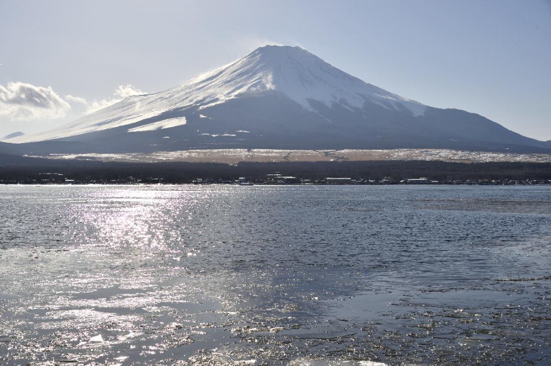 浮氷と富士山