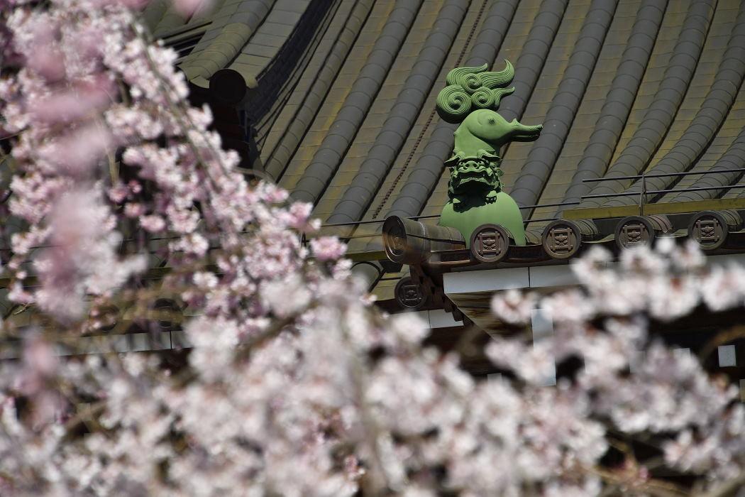 仏殿の屋根飾り