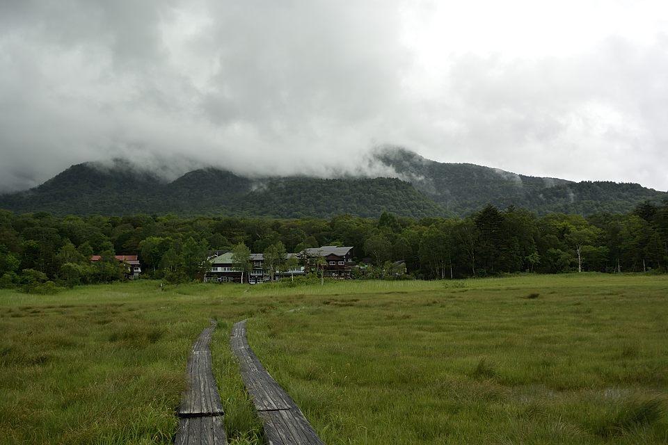 燧ケ岳と見晴の山小屋