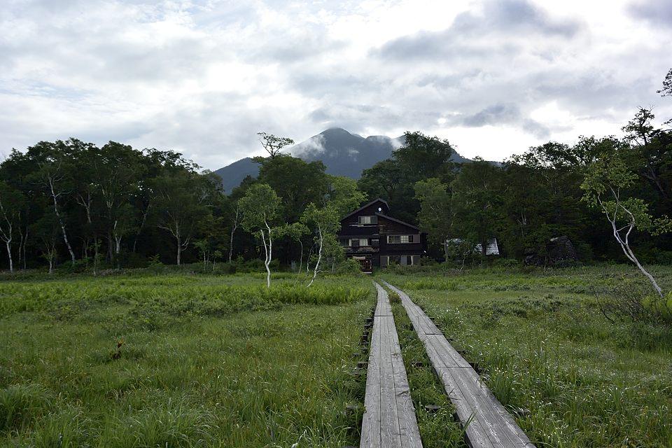燧ケ岳の頂上が見えていました