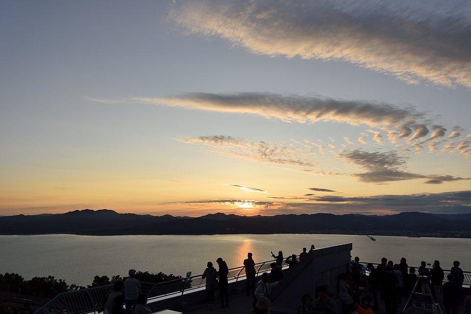 展望台からの夕陽