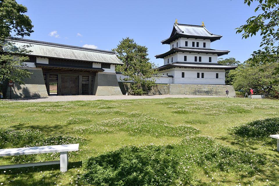 本丸御門、松前城