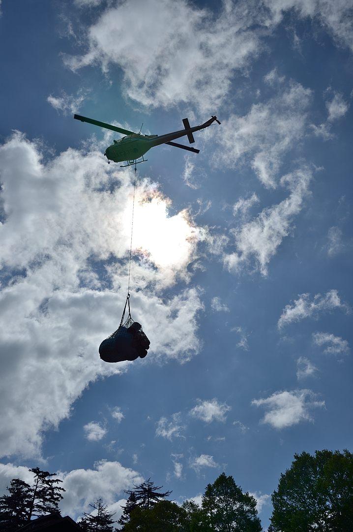 荷物を吊り上げる