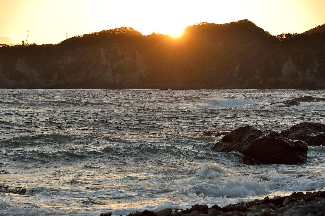石廊崎への落日