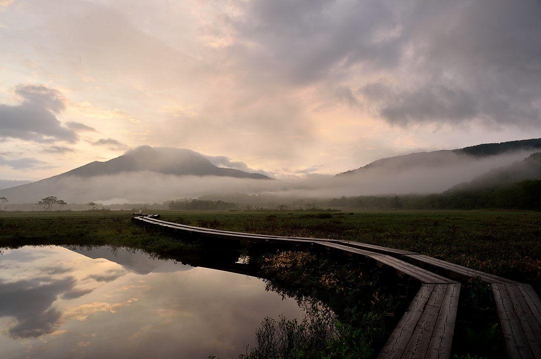 【04:35】霧がアヤメ平から流れて来ました