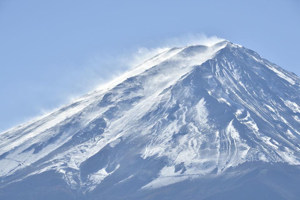 木枯し吹く富士