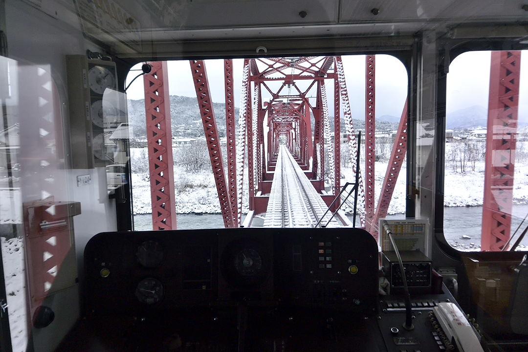 上田交通別所線・千曲川に架かる鉄橋